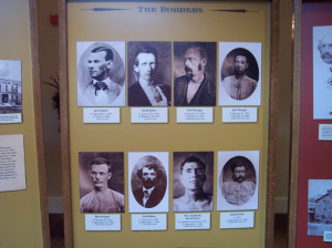 Part of the Northfield Historical Society's permanent exhibit devoted to the attempted 1876 bank raid.