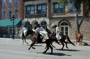 The events of September 7, 1876, are reenacted annually at the scene of the crime during Defeat of Jesse James Days.